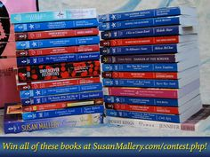 The great (HUGE) prize pack of #books you could win! Enter at SusanMallery.com/contest.php! #contest #reading