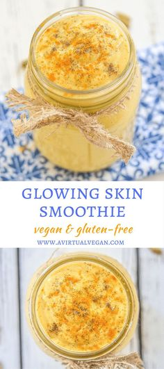 Start your day with this nourishing Glowing Skin Smoothie. It is packed with antioxidants & will leave you looking & feeling radiant both inside & out! via @avirtualvegan