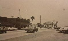 before Beaches Town Center. The Sea Turtle is visible in the background (now One Ocean). Vintage Florida, Old Florida, South Florida, Saint Augustine Beach, Fernandina Beach, Atlantic Beach, Jacksonville Florida, Amelia Island, Beach Town