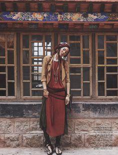 Korean Editorial: Nomad in Tibet - Mocha Chavez