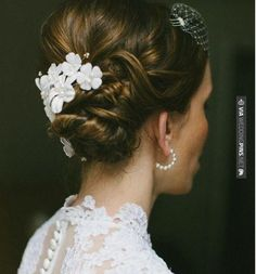 So awesome! - Romantic Low Bun   We Heart. To see more: | CHECK OUT MORE IDEAS AT WEDDINGPINS.NET | #weddings #hair #weddinghair #weddinghairstyles #hairstyles #events #forweddings #iloveweddings #romance #beauty #planners #fashion #weddingphotos #weddingpictures