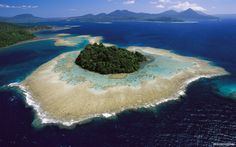 Coral reefs and islands, Kimbe Bay, West New Britain Island, Papua New Guinea Galapagos Islands Ecuador, Socotra, Island Pictures, New Britain, Equador, Paradise Island, Album Photo, Beautiful Places In The World, Wonderful Places