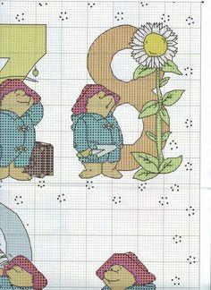 ru / Фото - The world of cross stitching 146 - tymannost Cross Stitch Numbers, Cross Stitch Charts, Cross Stitch Designs, Cross Stitch Patterns, Ours Paddington, Teddy Bear Puppies, Teddy Bears, Animal Crackers, Tatty Teddy