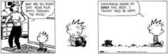 Calvin and Hobbes - considering where my boots have been