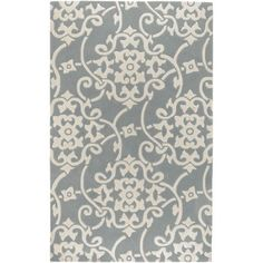 Art of Knot Ariton Polyester Area Rug, Blue