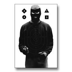 Masked Robber Target Poster now available at www.karatemart.com/