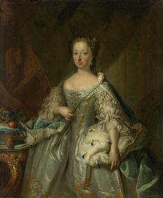 Anna van Hannover (1709-59). Echtgenote van prins Willem IV, attributed to Johann Valentin Tischbein, 1753