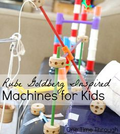 Make It Move (Bear Elective Adventure) - Rube Goldberg Machines for Kids Stem Projects, Science Projects, School Projects, Projects For Kids, Class Projects, Project Ideas, Educational Activities For Kids, Science Activities, Science Experiments