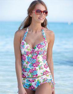 6d643d2242 Bravissimo Bora Bora Tankini Top in Tropical Floral. Sizes 30 E-J