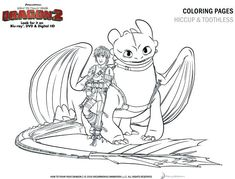 How to Train Your Dragon Coloring Pages Free Printable Dragons