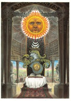 """phreemessen: """"Целью герметической философии заключается в объединении духовного с материалом.  Таким образом, пальто из рук герметического искусства отражает великолепие Солнца, объединяя планеты на небе вверху с алхимической работы в ..."""