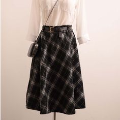 Aliexpress.com : Buy Women's Plaid Skirts Tartan Woolen Plaid Skirts Kilt Winter Wool Umbrella A Line Vintage Plaid Skirt Pleated Wool Tartan Skirts from Reliable plaid skirt suppliers on Lan 99 Apparel CO. Ltd.