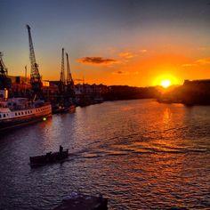 Sunset over Bristol Harbour