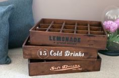 Wooden Soda Crates from Emerald  Nest
