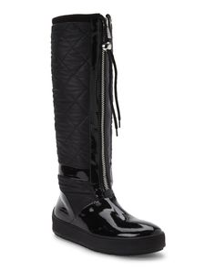 Aquatalia By Marvin K. Black Kadence Quilted Boots