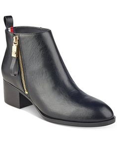 Tommy Hilfiger Reiz Ankle Booties Shoes - Boots - Macy s 8ca642a345