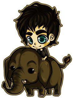 Ian and Dojiwae the Elephant