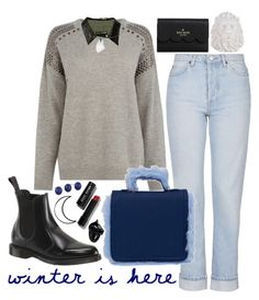 """""""ART N°1"""" by bluveraa ❤ liked on Polyvore featuring Warehouse, Dr. Martens, rag & bone, Topshop, Noir Jewelry, Bobbi Brown Cosmetics, Zara Home, Kate Spade and Nach"""