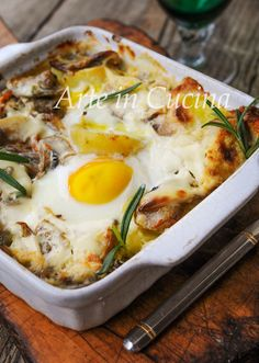 Patate e uova alla boscaiola ricetta facile vickyart arte in cucina Egg Recipes, Chicken Recipes, Cooking Recipes, Brunch, Breakfast Time, Antipasto, International Recipes, Original Recipe, Weeknight Meals