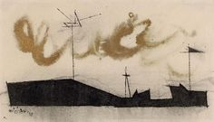 Lyonel Feininger, (Harbor Skyline with Golden Squall)