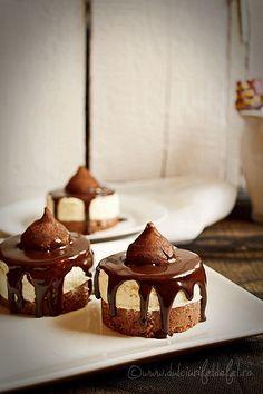 Prajituri cu mousse de ciocolata alba - Dulciuri fel de fel Pudding, Desserts, Tailgate Desserts, Postres, Deserts, Puddings, Dessert