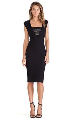 LaPina by David Helwani Callie Dress in Black