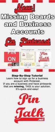 Tutorial Pinterest for Business Update. Get your missing boards back! #Pinterest Tutorial