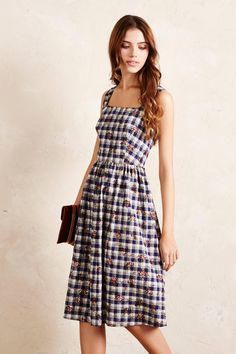 Fleur Checked Dress - anthropologie.eu
