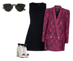 """""""Untitled #7"""" by maraiah on Polyvore featuring RED Valentino, Christian Dior and Balmain"""