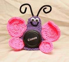 Crochet Butterfly Lens Friend by TheYarnFool on Etsy