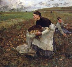 Jules Bastien-Lepage (French Realist Painter, 1848-1884) Saison d'octobre