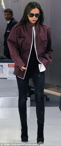 Victoria Beckham looks grumpy as she leaves NYC after Fashion Week #dailymail