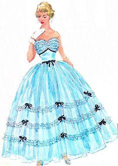 1950s Evening Dress Pattern Simplicity 4968 by paneenjerez on Etsy, $65.00