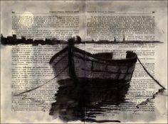 Boat ink drawing