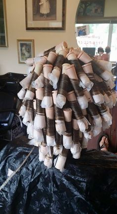 spiral perm on beige rods--the wrap