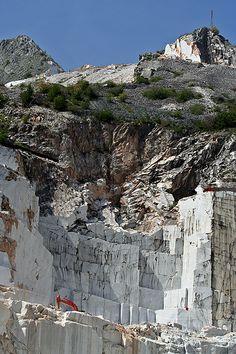 Fantiscritti Quarry area Carrara, Italy where Michaelangelo chose his marble.