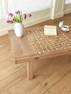 Shop our contemporary Riempie coffee tables online now Diy Pallet Furniture, Diy Pallet Projects, Solid Wood Furniture, Wood Projects, Diy Fan, Home Comforts, Coffee Shop, Cookie Crush, Side Tables