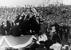 When we were kings: Jock Stein  leads the open-top bus parade in Glasgow in 1967 as Celtic became the first British team to win the European Cup! my wee uncle was at that game