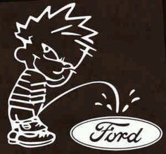 Pissing on ford pic