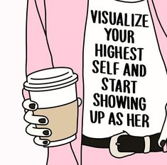 Visualise Your Highest Self And Start Showing Up As Her Quotes Positivity Positive Motivation The Words, Cool Words, Pretty Words, Beautiful Words, Affirmations, Motivacional Quotes, Mentor Quotes, Crush Quotes, Wisdom Quotes