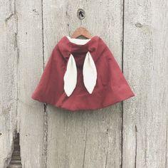 Sweet hooded bunny cape by @tortoiseandthehareclothing for #kidsfashion #FW15…