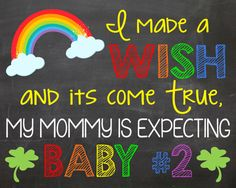 St. Patrick's Day Sibling Pregnancy by LaLaExpressions on Etsy