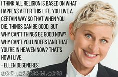 Religion was the basis (original sin) of my childhood abuse, and the only way out was to accept is meekly and survive for some after life reward. Agnostic Quotes, Atheist Agnostic, Atheist Humor, Humanist Quotes, Quotes To Live By, Me Quotes, Ellen Quotes, Famous Quotes, Wisdom Quotes