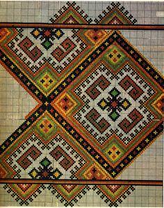 FolkCostume&Embroidery: Hutsul Cross Stitch Embroidery, Ukraine