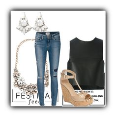 """""""Untitled #304"""" by sikarjazmin on Polyvore featuring Forever 21, Fendi, Paige Denim and Jimmy Choo"""