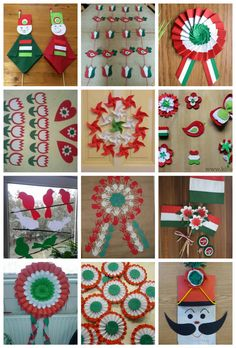 Hagyományos színes papírt, krepp-papírt, Independence Day Theme, Independence Day Activities, 15 August Independence Day, Independence Day Decoration, Diy For Kids, Crafts For Kids, August Themes, Smash Book Inspiration, Fox Crafts