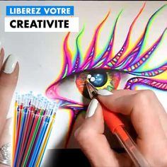 Diy Crafts To Do, Rock Crafts, Arts And Crafts, Artist Pens, Glitter Crafts, Homemade Art, Amazing Drawings, Gel Pens, Diy Art