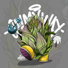 R U N on my way #character #art #digitalart #bud #strains #marryjane #cannabis #kush #vector