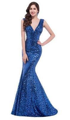 87e449a89 Modré spoločenské šaty · Cheap Long Red Sequin evening dresses 2016 robe de  soiree longue vestido de noche Sexy Trumpet