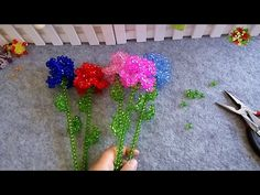 (189) How to bead plant accessory:Carnation (Style 2) 2/2 - YouTube